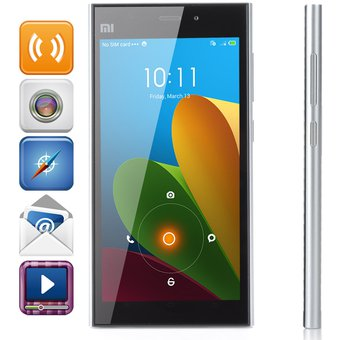 Compra XiaoMi Mi3 MIUI V5 RAM 2 GB ROM 16GB-Plata online  68bfc866e868