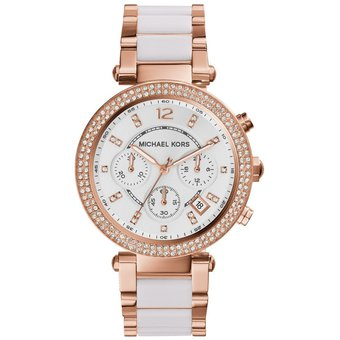 0f8393ac9118 Compra Reloj Mujer Michael Kors Parker Two-Tone Dorado Rosa Y Blanco ...
