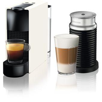 WhiteAeroccino 14 Nespresso Essenza Cafetera Mini Cápsulas TFKcJ3l1