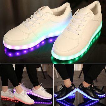 64fe6650 Compra Zapatos Deportivos Con Luces LED Unisex-Blanco online | Linio ...