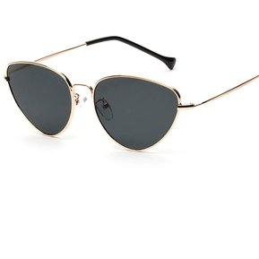 11a51e0ae0 Gafas de sol Cat Eye Gafas de sol actuales de color trigonal claro