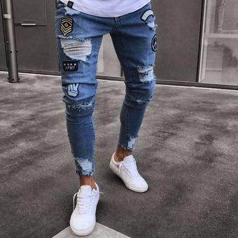 9d68c9311 Compra Moda Pantalones De Mezclilla Para Caballero Jeans Hombre-azul ...