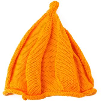 Compra Gorro de punto de lana unisex de moda Twisted (Naranja ... e746cf7ab4f