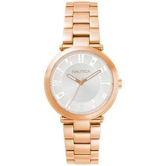 Compra Reloj Nautica NAPFLS006 Para Dama - Dorado online  8c98dca66846