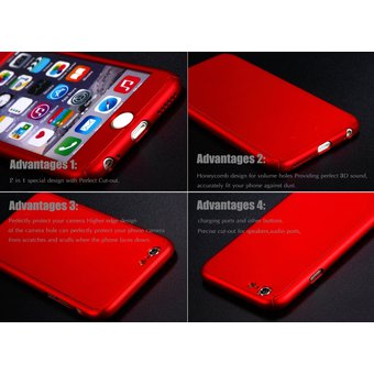 f5049ccb2d3 Agotado Funda 360° para iPhone 6 PLUS o 6s PLUS de Policarbonato y Mica de  Cristal