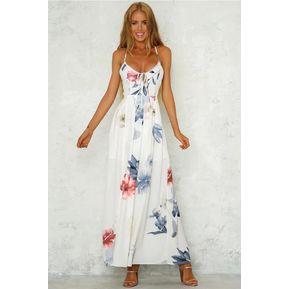 c4e44aa4fa Vestido De Playa Sin Espalda De Verano Vestidos Casual Para Dama