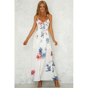 Vestido De Playa Sin Espalda De Verano Vestidos Casual Para Dama