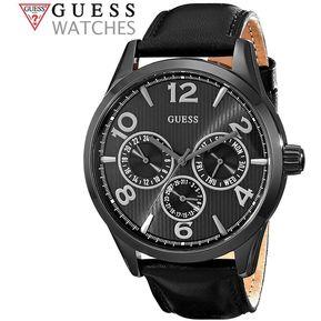 c154707f Reloj Guess U0493G2 Acero Inoxidable Correa de Cuero - Negro