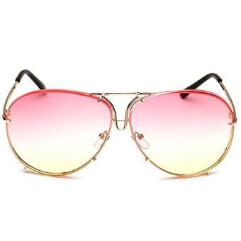 cc8b3b7534 Las Mujeres Gafas De Sol Con Marco De Metal Coloridas Gafas De Protección  UV400 Rosa Y