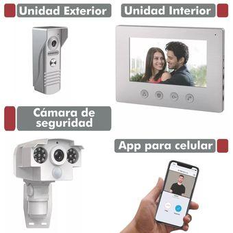 Portero Visor Ficatto Con Camara Exterior Wifi + App Celular