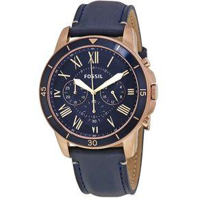1938f560f823 Reloj Fossil Grant FS5237 Analógico Correa De Cuero Para Hombre - Azul