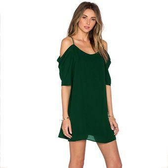 edf2d8ebeb Compra Vestido Casual Generico Tirantes Y De Gasa Verde online ...