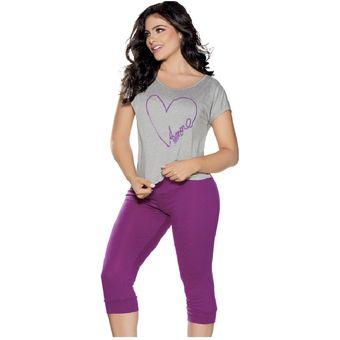 7b1961f68b Agotado Pijama Adulto Para Mujer Marketing Personal 32304 Magenta Gris