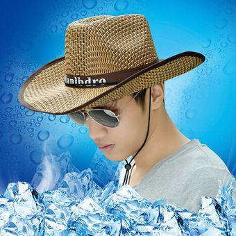Agotado EY Los Sombreros De Los Hombres De Sombrero De Paja Sombrero Para  El Sol Sombrero Al 111f6cd0c1e