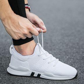 2cf6257f Calzado Deportivo Transpirable Casual Para Hombre Nuevo-Blanco