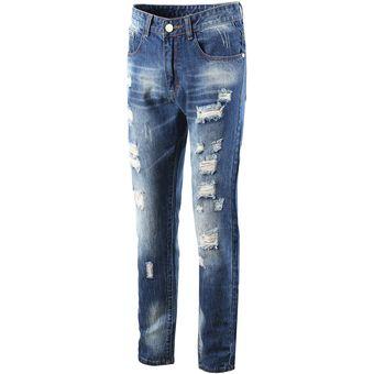 87f7d94ad2 10 Jeans Largo Claros Hombres Moda Pantalones Hombre Fresco Agujero Drive  Venta Caliente Pantalones Casual Nuevo
