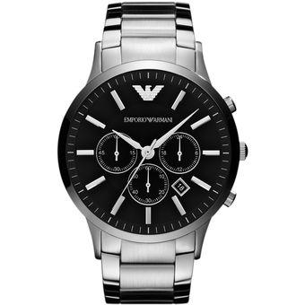 9896cfcc4feb Compra Reloj Caballero Emporio Armani AR2460 -Plateado Negro online ...