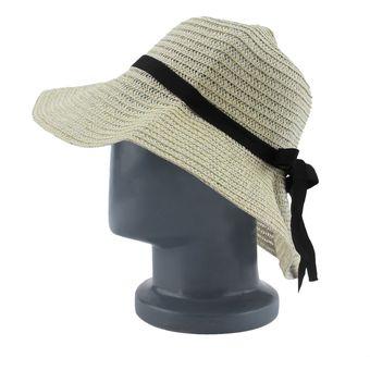 Compra EY Gran Sombrero De Paja De Color Beige A Lo Largo De La ... 66ed4e7c2a7