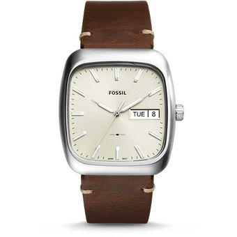 4d6821aa074d Compra Reloj Fossil FS5329 Piel Caballero Cuadrado -Café Plata ...