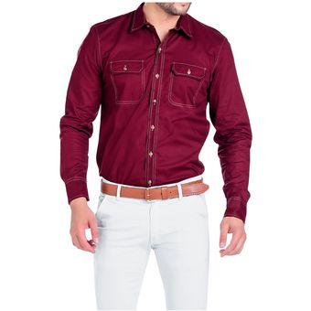 941b65bfd Camisa Adulto Marketing Personal Para Hombre Vinotinto