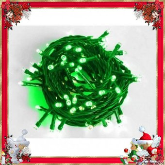 4d82802c939 Compra Extension De 100 Luces LED Navidad Cable Verde Verde online ...