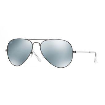 b6d0e87ef0 Compra Gafas Ray Ban Aviator Unisex Platinum Flash Lenses online ...