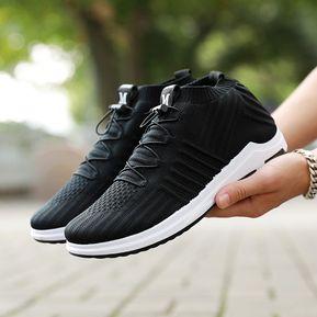 6e0f49f1cd0 Zapatos Deportivos Mujer Corree Transpirable Zapatos De Tela-negro