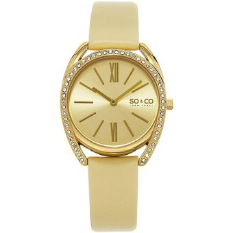 New York 3 5097 Gold Wrist amp;co Quartz Para Madison Mujer Reloj So PZiXukO