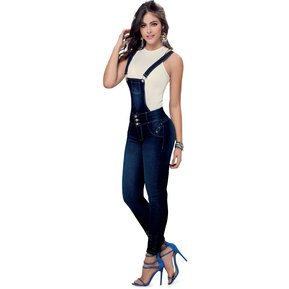 c1096c6250 Overall Largo Adulto Marketing Personal Para Mujer -Azul
