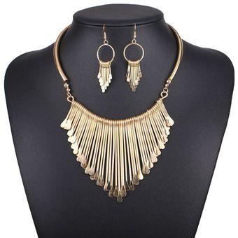 f7803f027449 Agotado Collar Y Aretes Harmonie Accesorios Multiples Colgantes Dorado
