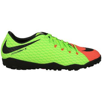 8b14fb9bfeb77 Agotado Zapatos Fútbol Hombre Nike HypervenomX Phelon III TF -Verde Con  Naranja