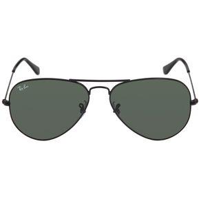 Gafas De Sol Ray Ban Aviator 3025 L2823 Negro   Verde 58mm Talle M 9ba34b1dbc42