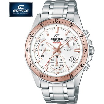 791875e11ec7 Reloj Casio Edifice EFV-540D-7BV Con Numero de Serie Cronometro - Plateado  Blanco