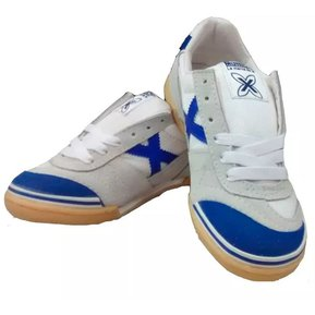 Zapatos Tenis Munich X Zapatillas Fútsal Fútbol Salón Blanco Azul f3506fbfca74
