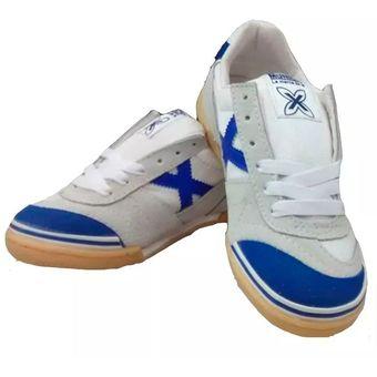incomparable ofrecer descuentos desigual en el rendimiento Zapatos Tenis Munich X Zapatillas Fútsal Fútbol Salón Blanco Azul