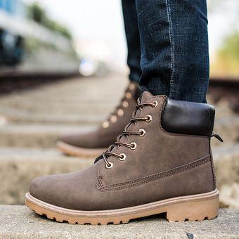 93021f9ed6a6d Compra Botas Hombre Martin Alto Zapatos De Los Hombres Al Aire Libre ...