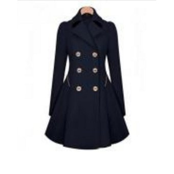 3181718ffeefb Compra Abrigo Tipo Sobretodo para Mujer-Azul online