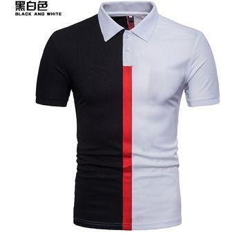 d68abf23830b28 Camiseta Polo Para Hombre Casual Tops Código Ou Primavera Y-Blanco Y Negro