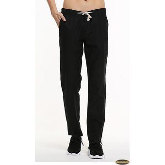 Compra Pantalones Casual Algodón Lino Gaupucean Para Hombre-Negro ... 3ef7dd202f1