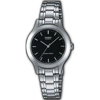 2aa16d72a7db Compra Reloj Casio LTP-1128A-1A-Plateado con Negro Para Mujer online ...