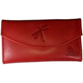 e0743e089 Billetera Cartera Monedero Cuero Mujer Dama Embrague Largo Color Rojo