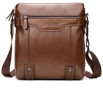 2f00a651e0d La bolsa de mensajero del bolso de los hombres de la moda de cuero de la