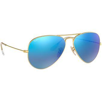 bc07b26c55 Compra Lentes de Aviador Ray-Ban Aviator Large para Hombre-Azul ...