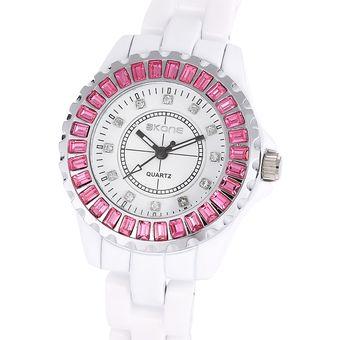 3C Skone 7240 Mujer Reloj De Cuarzo Artificial Diamante Dial Cristal Bisel  Aleación De La Banda Reloj De Mujer 9a106f6d7c62