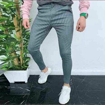 Pantalones Casuales Para Hombres Ajustados Ajustados Traje Formal Pantalones De Vestir Pantalones Sky Blue Linio Peru Un055fa1hobwllpe