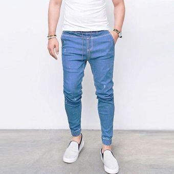 e30eb1e12eff3 Compra Moda Pantalones De Mezclilla Para Caballero Jeans Hombre-azul ...