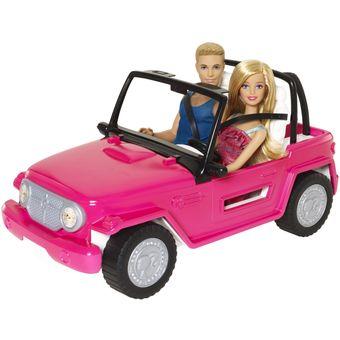 barbie set jeep auto de playa con barbie y ken beach. Black Bedroom Furniture Sets. Home Design Ideas