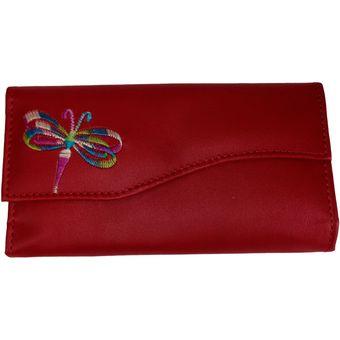 código promocional 700cf 45bad Billetera Mujer Dama Embrague Largo Monedero Baratas Rojo