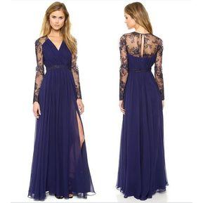 b4ef7cb0ac Vestido Largo De Gasa De Fiesta De Gasa Vestido Para Mujer -azul