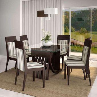 Compra juego de comedor p l italia 6 sillas tapiz lineal for Comedores economicos y bonitos